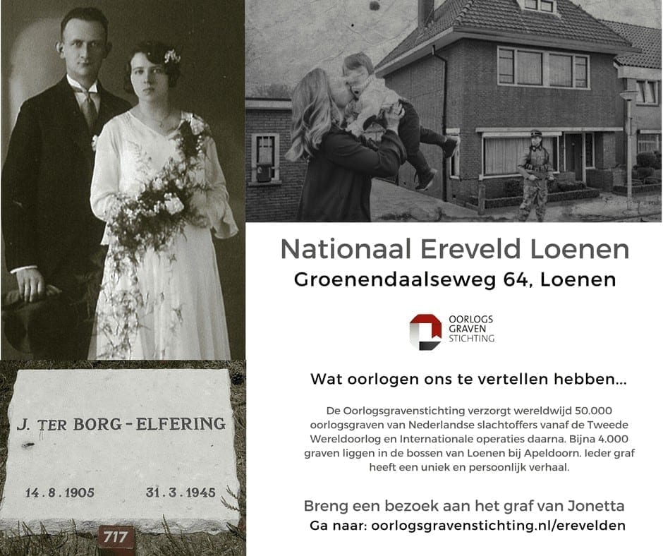 Nationaal Ereveld Loenen Oorlogsslachtoffer Jonetta