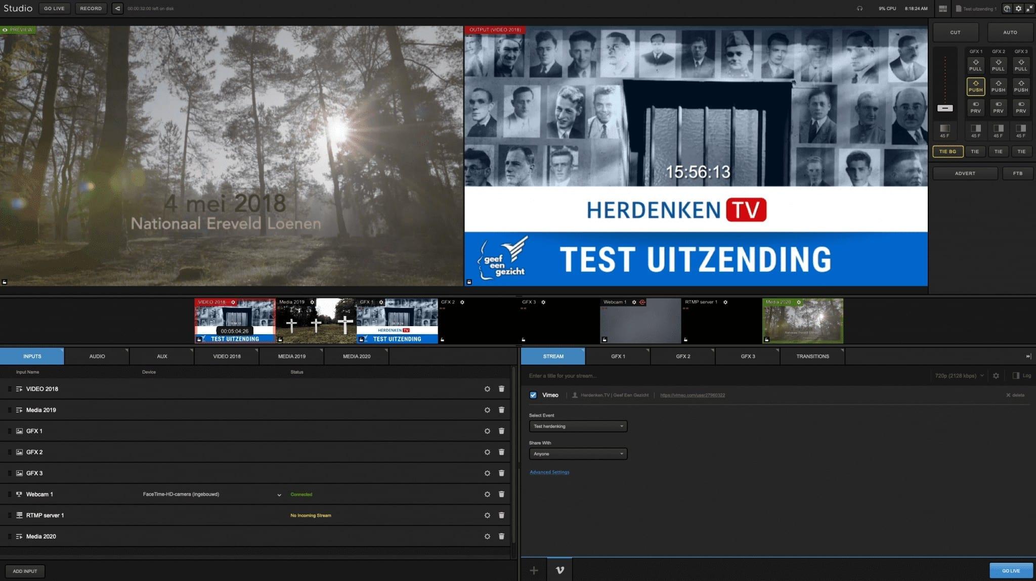 online streaming evenementen