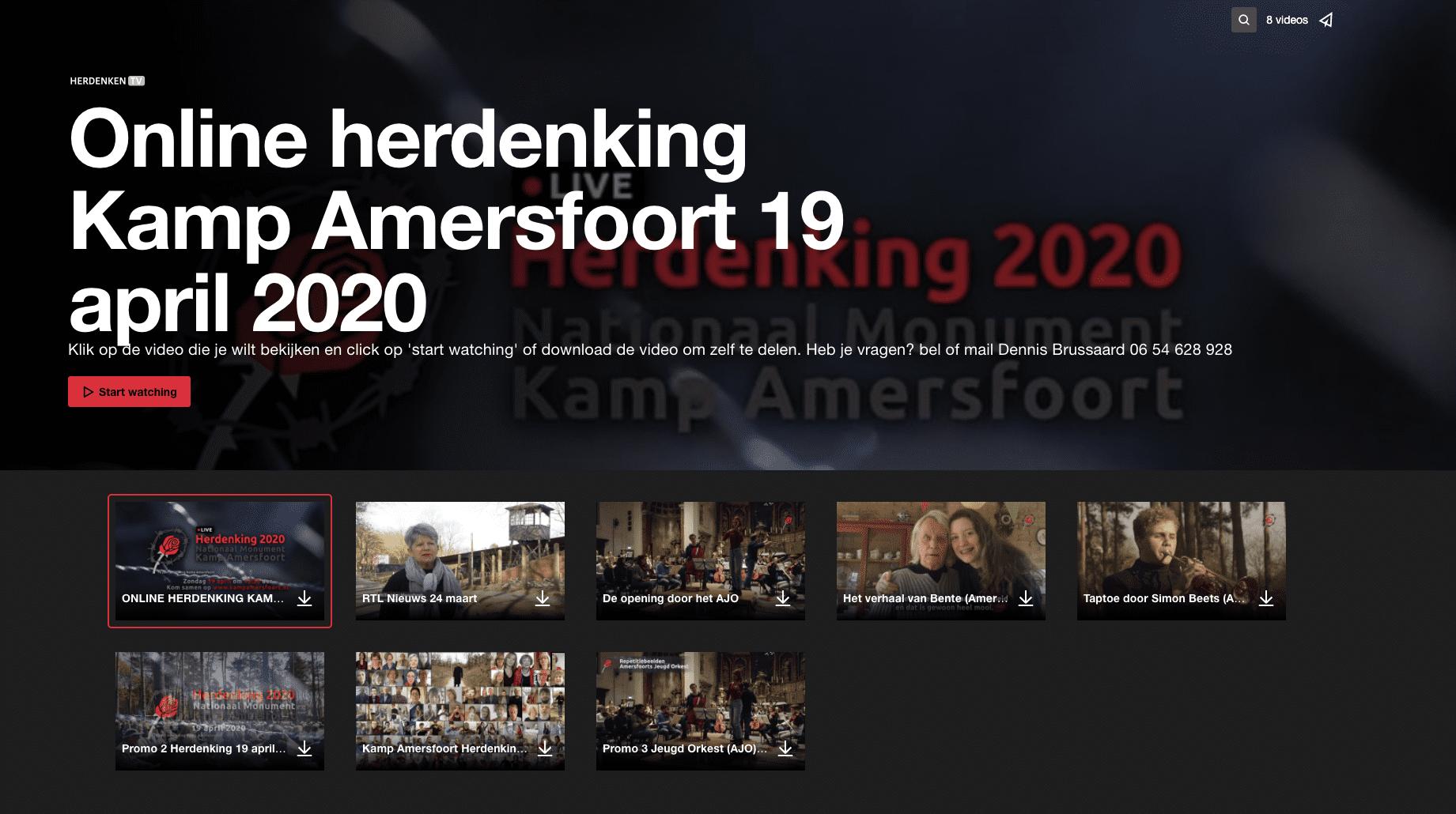 Online herdenking Kamp Amersfoort 2020