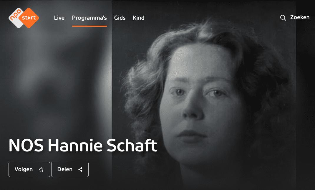 NPO gemist 100 jaar Hannie Schaft